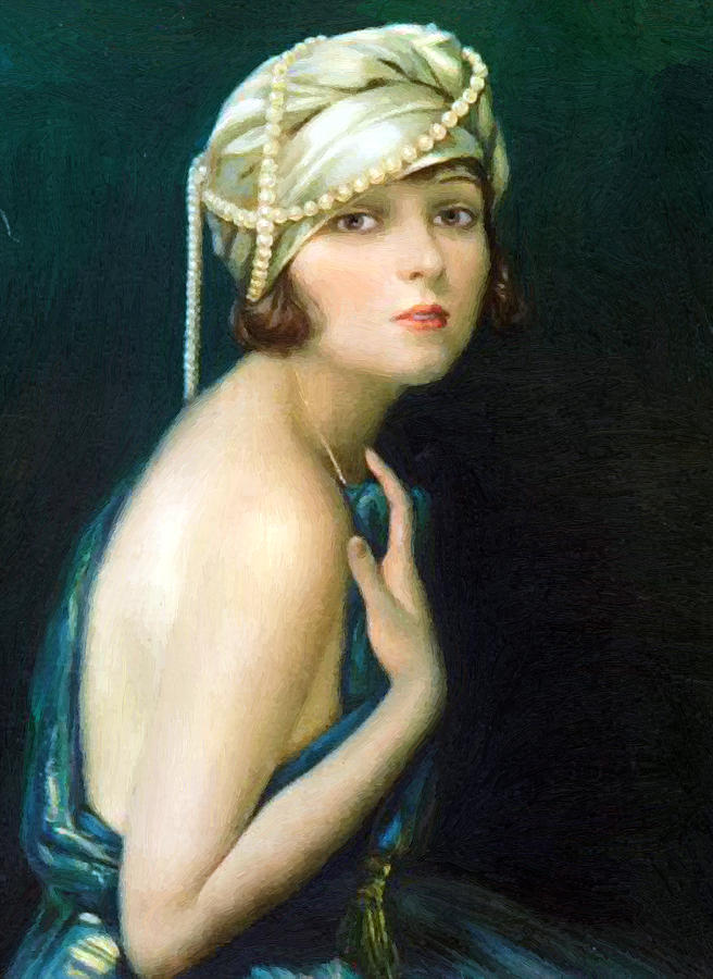 Corinne Griffith 1920 Painting