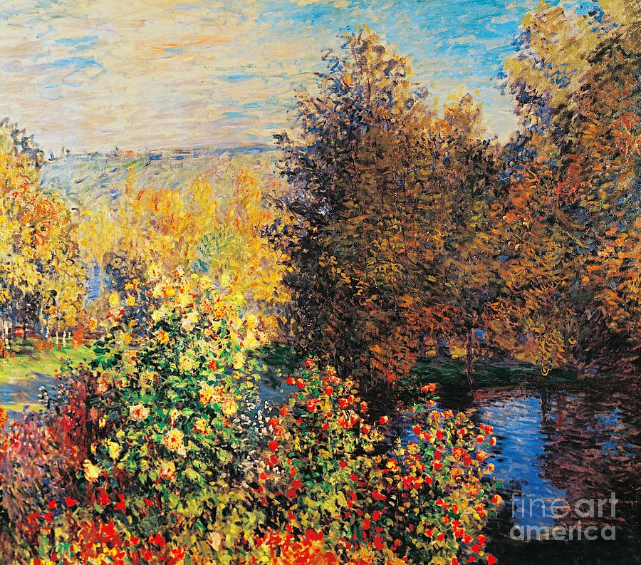Corner Of Garden In Montgeron Painting  - Corner Of Garden In Montgeron Fine Art Print
