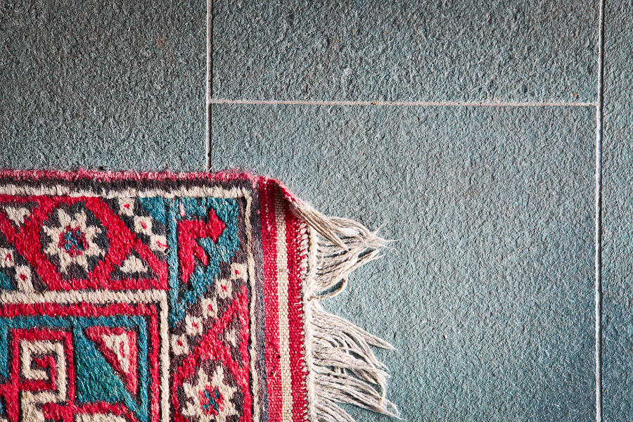 Ancient Photograph - Corner Of Rug by Tom Gowanlock