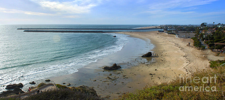 Corona Del Mar Beach View - 02 Photograph  - Corona Del Mar Beach View - 02 Fine Art Print