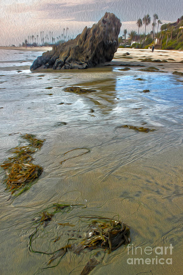 Corona Del Mar Coast Painting  - Corona Del Mar Coast Fine Art Print
