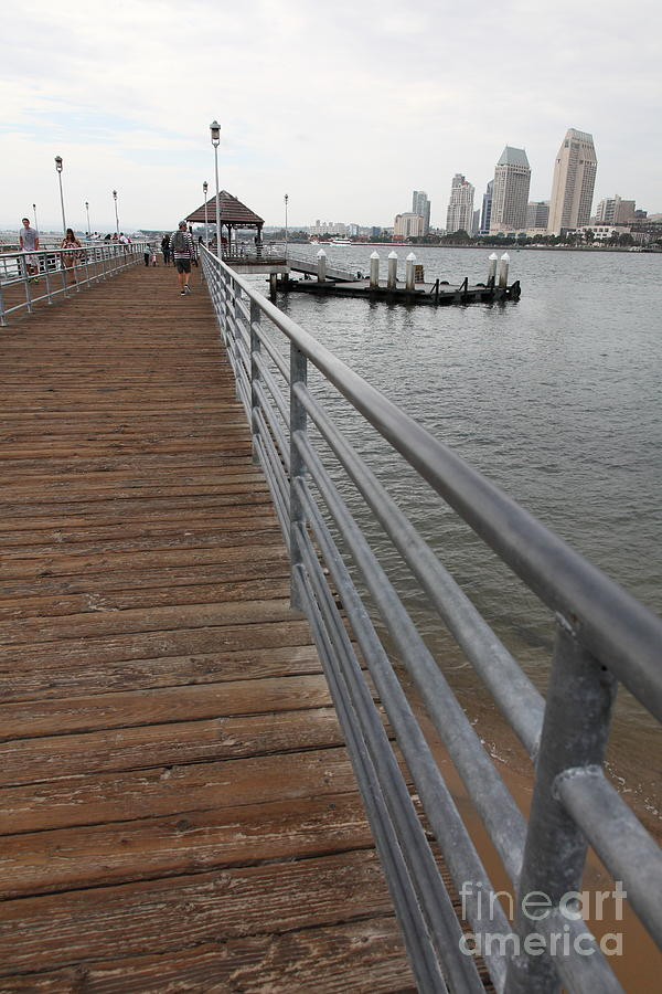 Coronado Pier Overlooking The San Diego Skyline 5d24354 Photograph