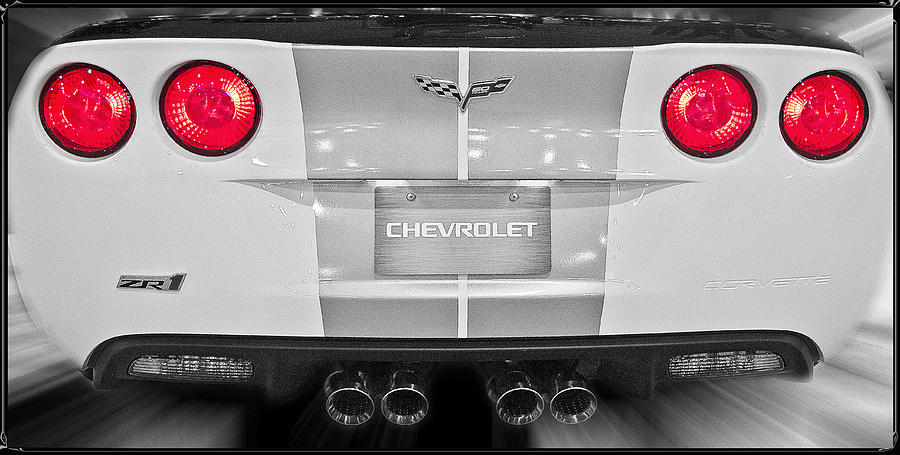 Corvette Rear View Photograph  - Corvette Rear View Fine Art Print