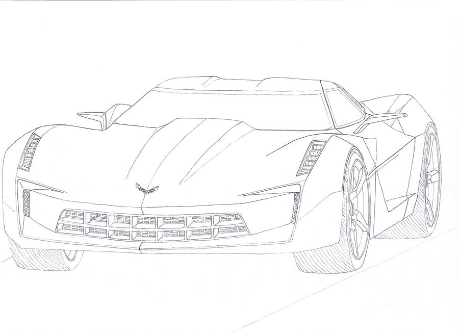 corvette stingray drawing pictures to pin on pinterest