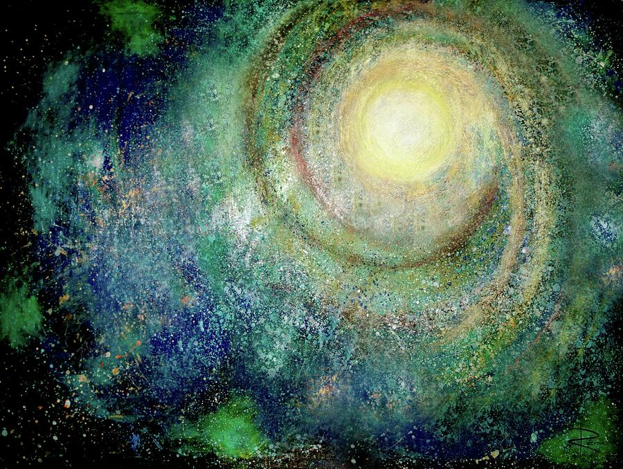 Universe Painting - Cosmic Breath by NARI - Mother Earth Spirit