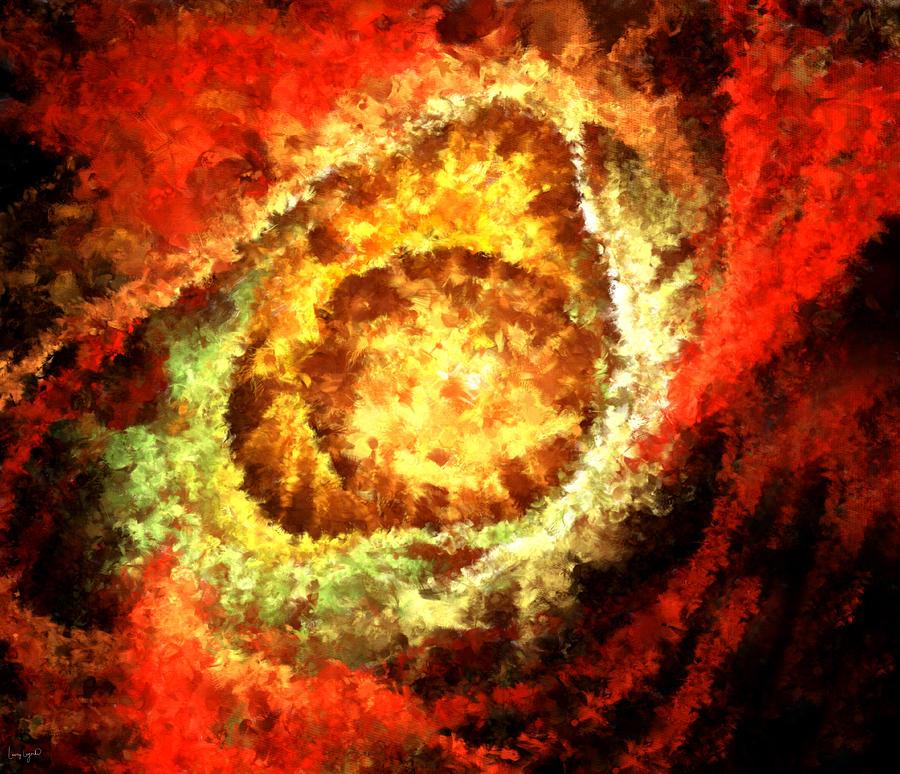 Cosmic Flares Digital Art