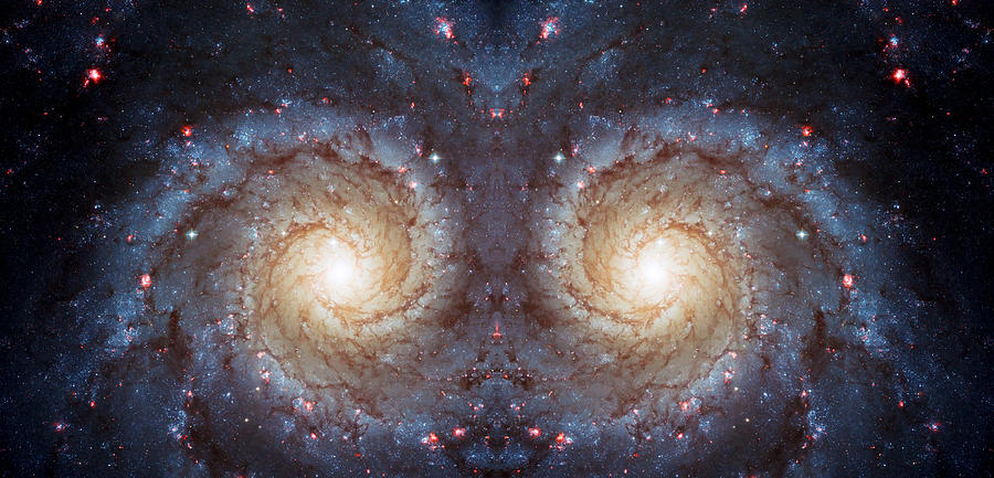 Cosmic Galaxy Reflection Photograph  - Cosmic Galaxy Reflection Fine Art Print