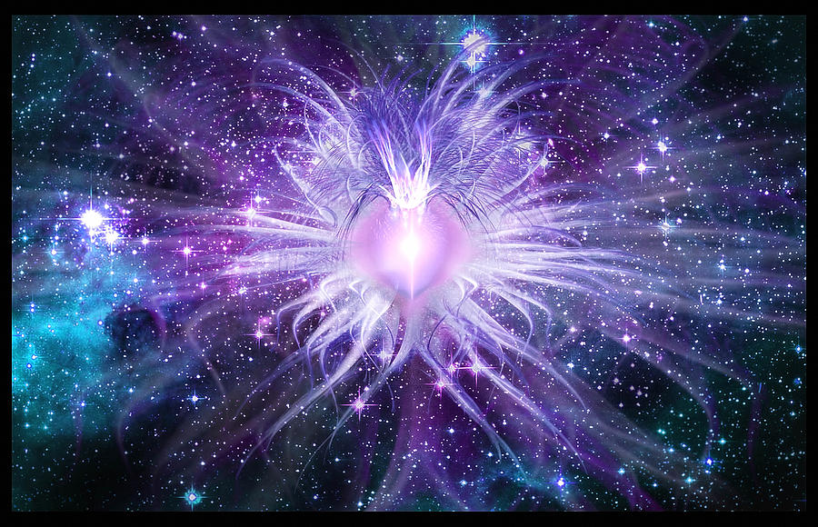 Cosmic Heart Of The Universe Digital Art  - Cosmic Heart Of The Universe Fine Art Print