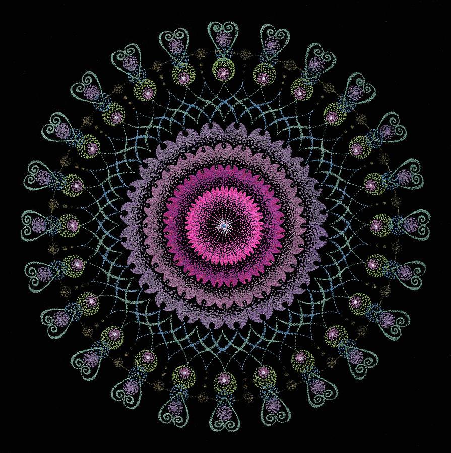 Mandala Art Painting - Cosmic Hug by Keiko Katsuta