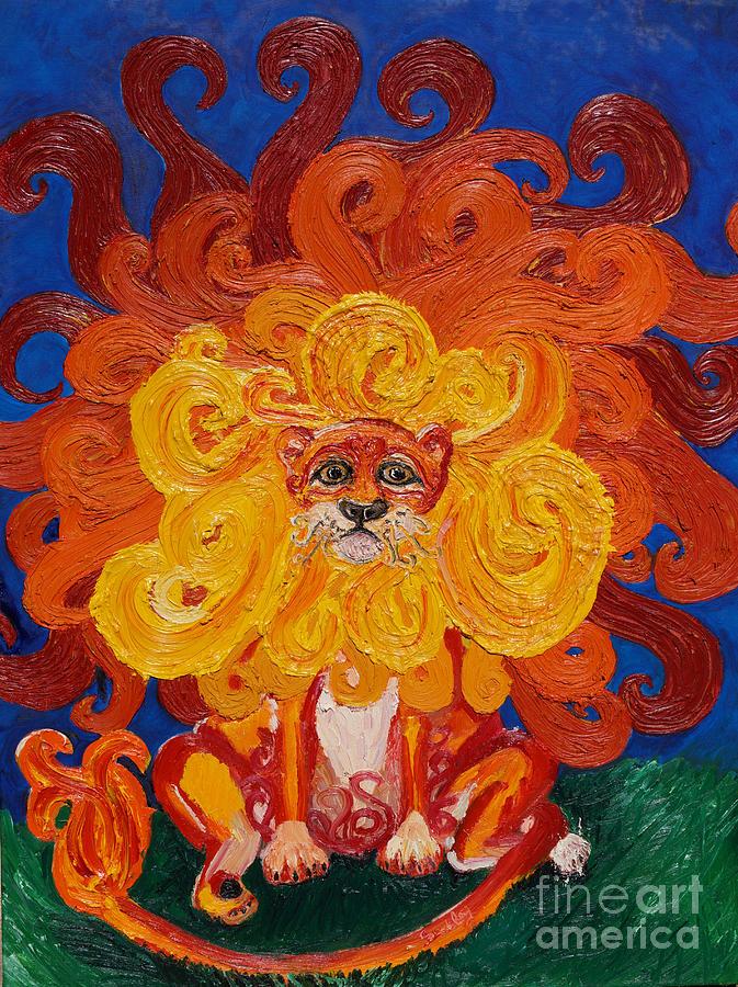 Cosmic Lion Painting