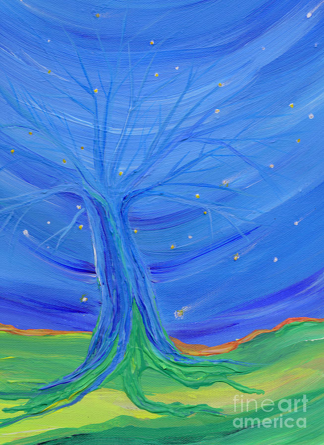 Tree Painting - Cosmic Tree by First Star Art
