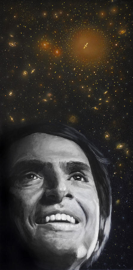 Carl Sagan Painting - Cosmos- Carl Sagan by Simon Kregar