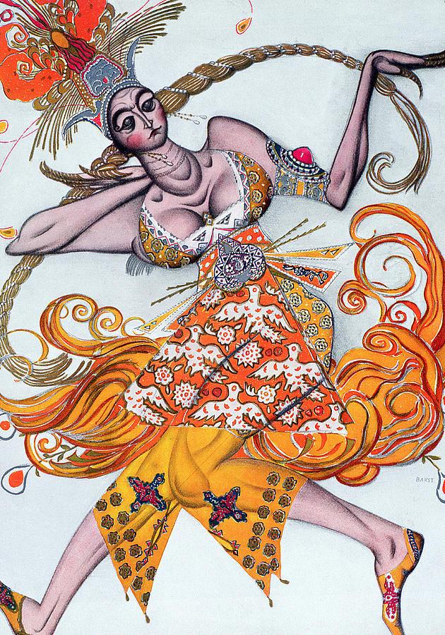 Costume Design For A Pas De Deux Danced Drawing