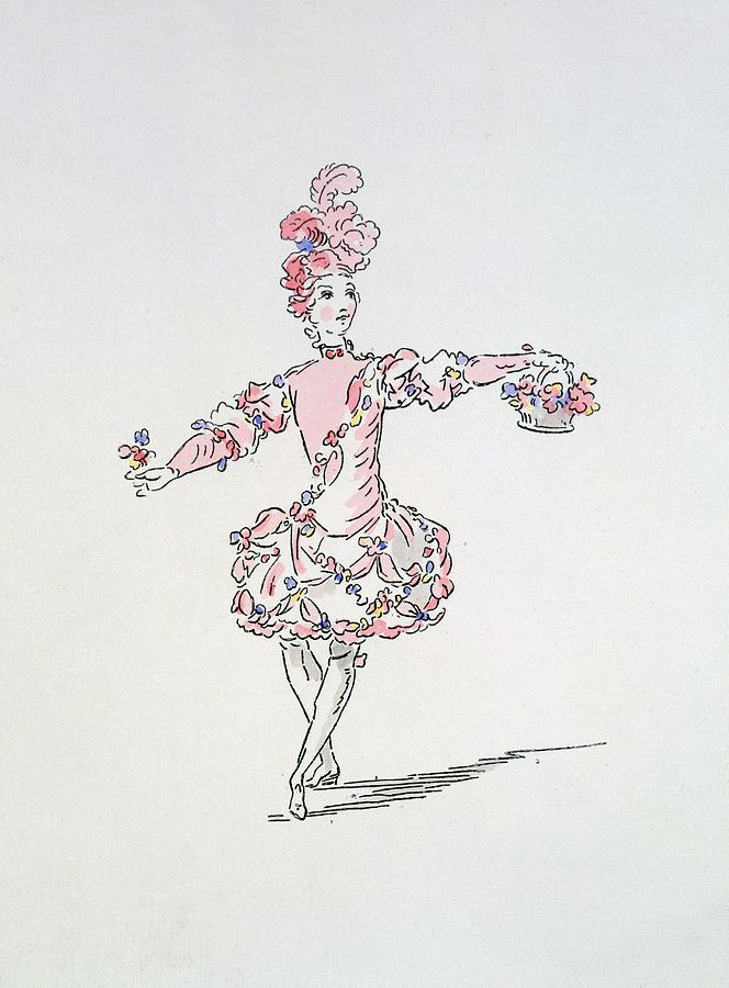 Costume Design For A Young Egyptian Drawing