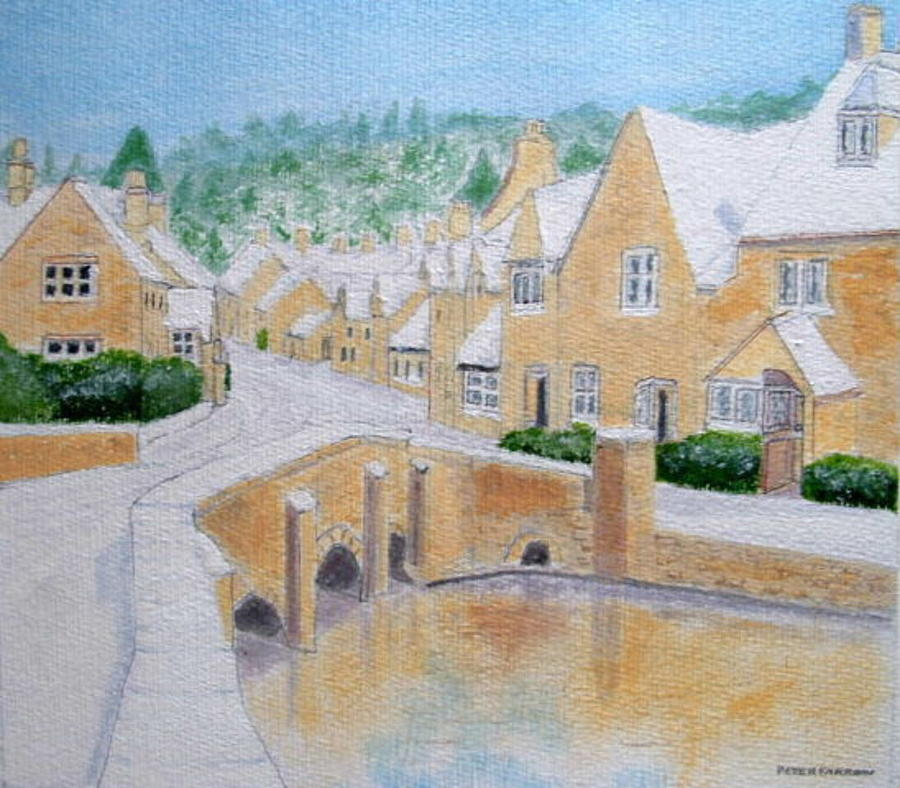 Cotswold Winter Painting  - Cotswold Winter Fine Art Print