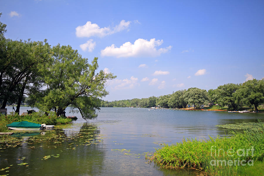 Cottage And Lake Photograph  - Cottage And Lake Fine Art Print