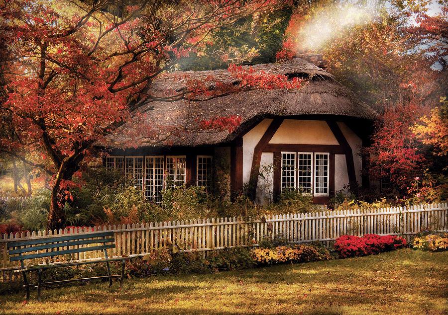 Savad Photograph - Cottage - Nanas House by Mike Savad