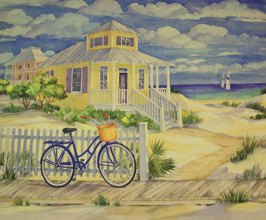 cottage on the beach painting by movie poster prints