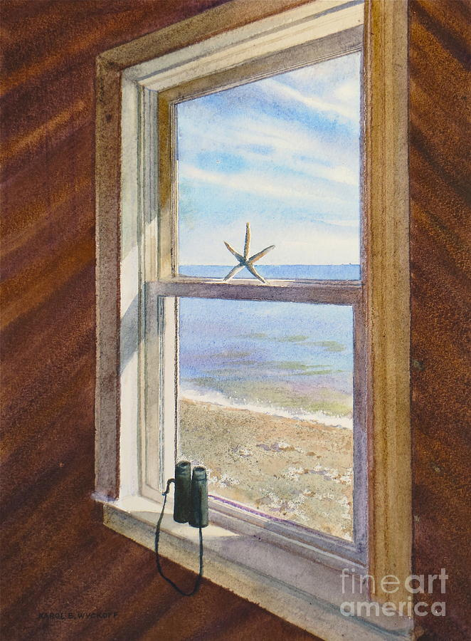 Wood Painting - Cottage Window by Karol Wyckoff