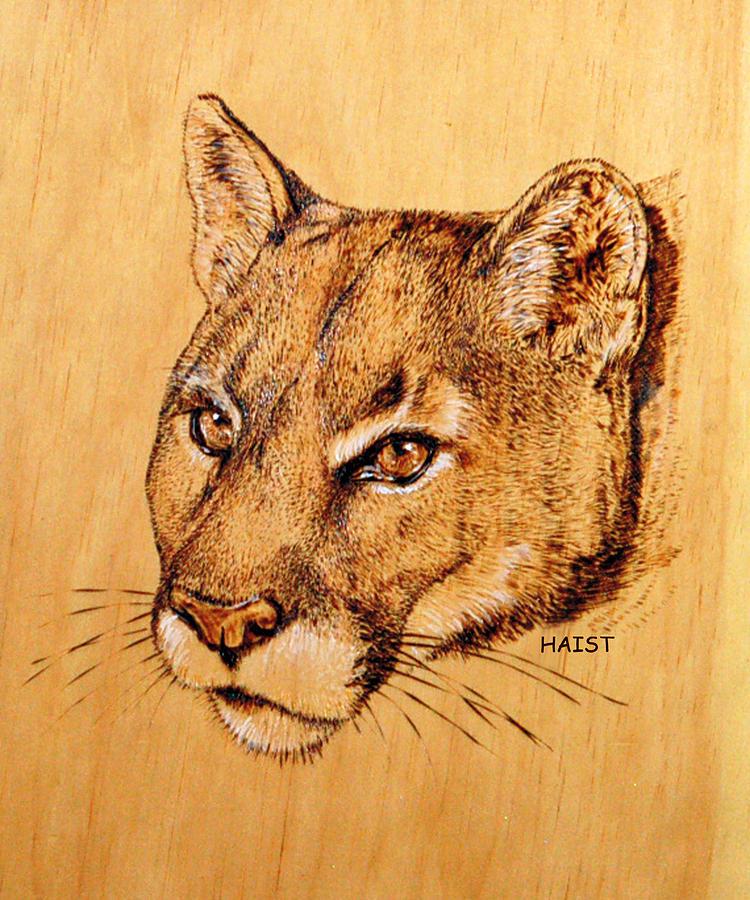 Cougar Pyrography