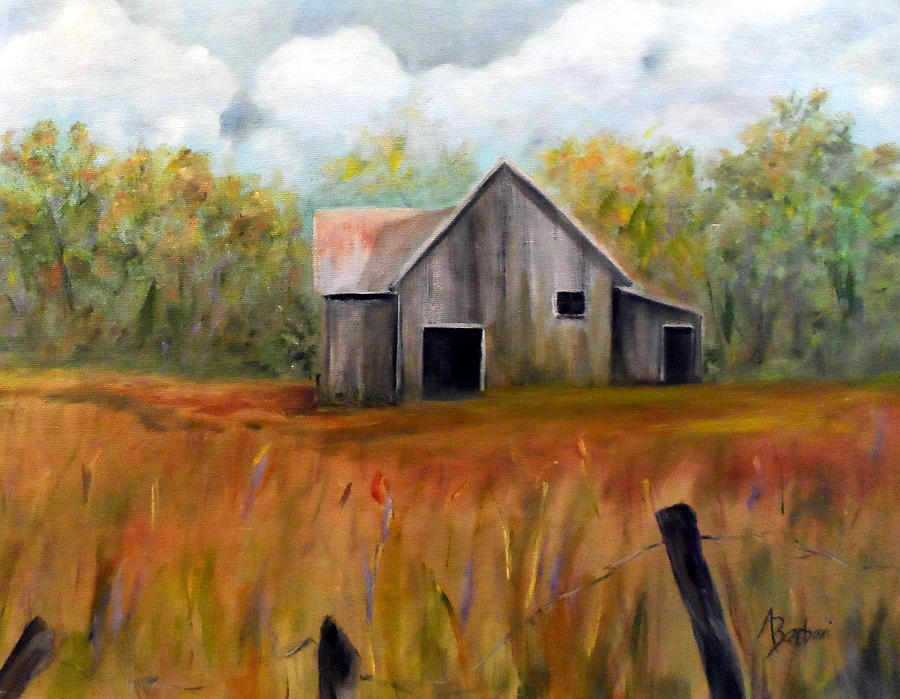 Country Barn Painting  - Country Barn Fine Art Print