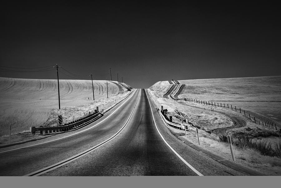 Black And White Photograph - Country Farm Road by Anthony Citro