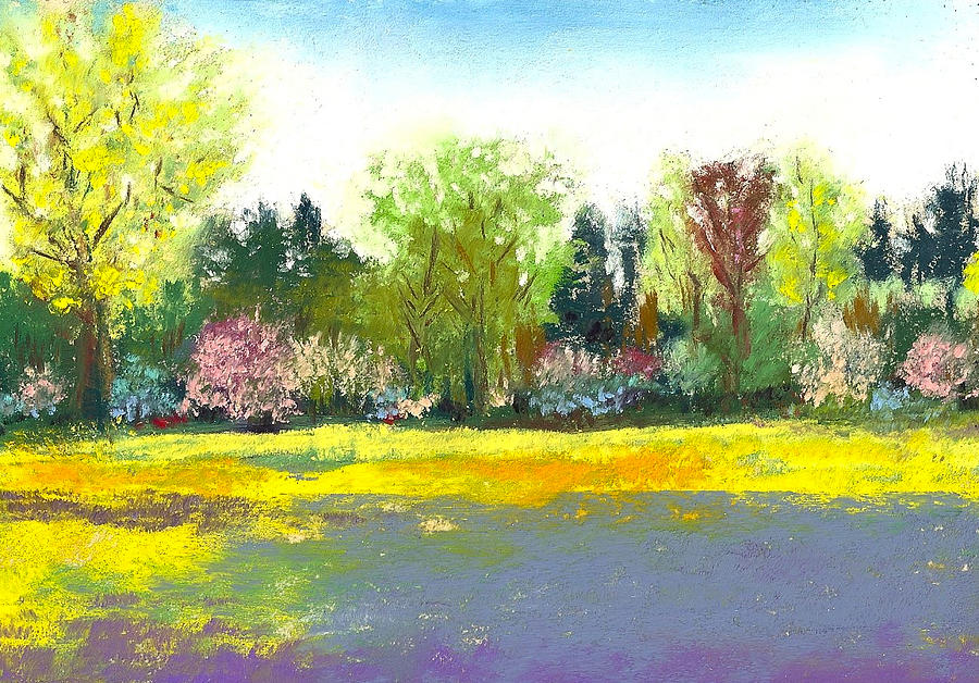 Country Garden Painting  - Country Garden Fine Art Print