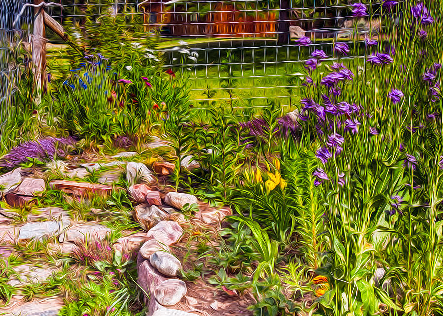 Country Garden Painting