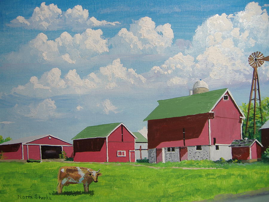 Barns Painting - Country Home by Norm Starks