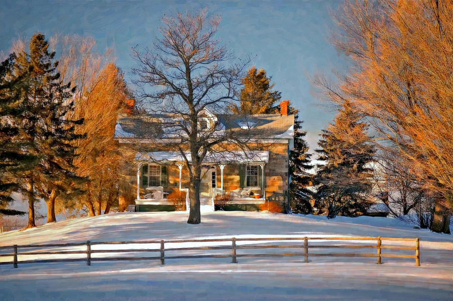 Country Home Oil Photograph  - Country Home Oil Fine Art Print