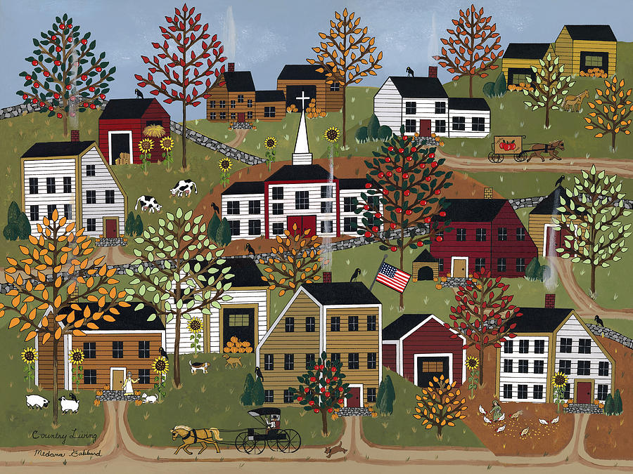 Country Living Painting By Medana Gabbard
