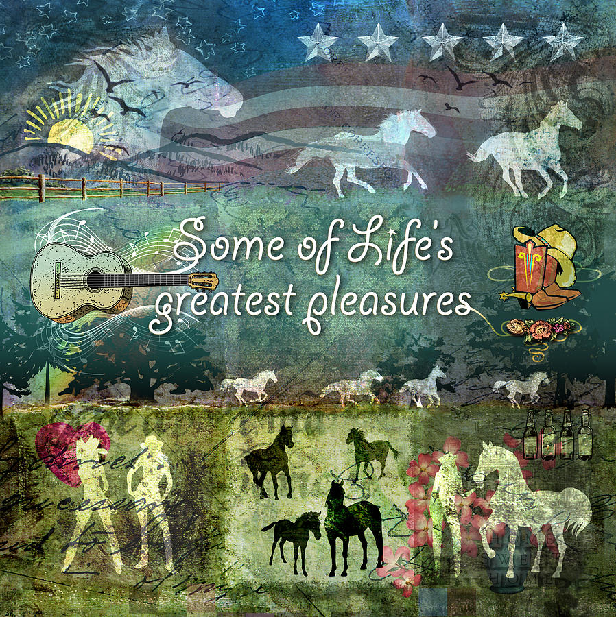 Country Pleasures Digital Art  - Country Pleasures Fine Art Print
