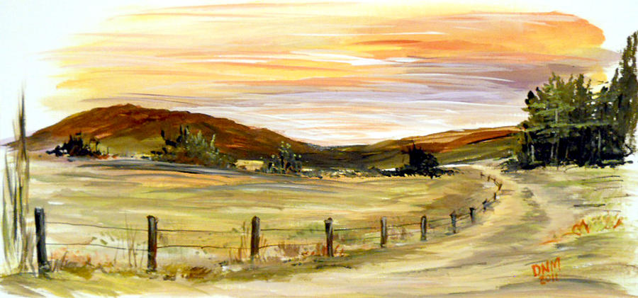 Country Road Painting  - Country Road Fine Art Print
