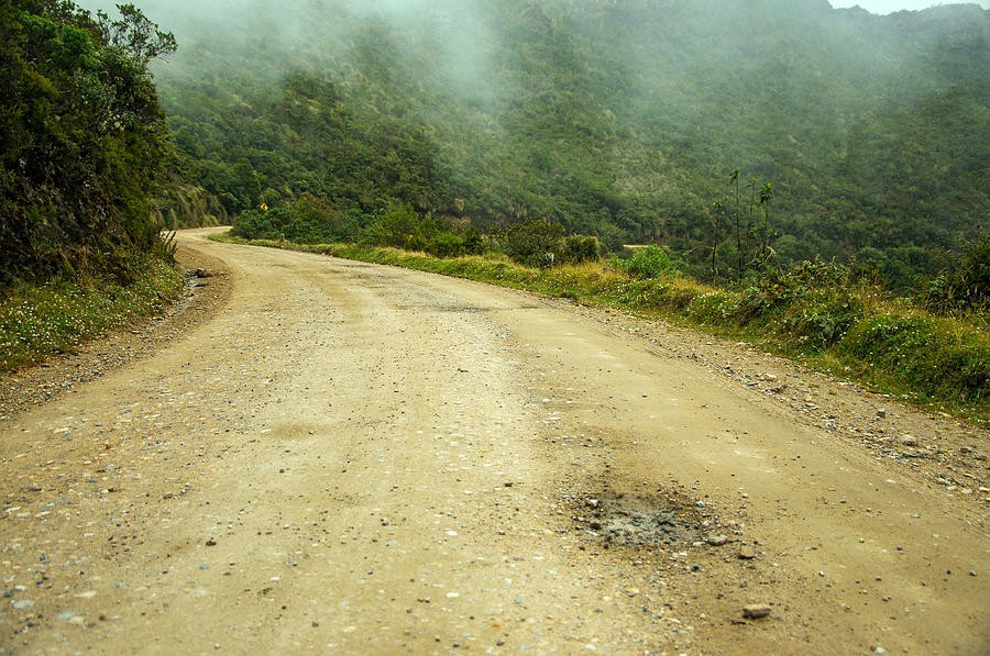 Country Road In Colombia Photograph  - Country Road In Colombia Fine Art Print