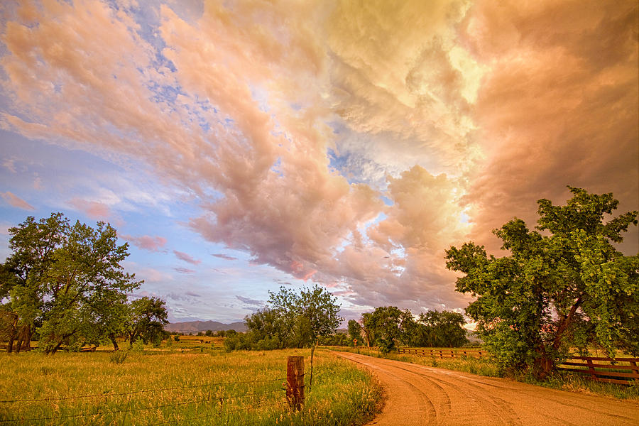 Country Road Into The Storm Front Photograph