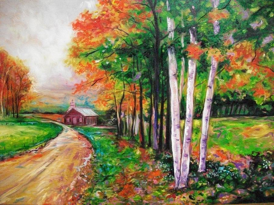 Country Side Painting  - Country Side Fine Art Print