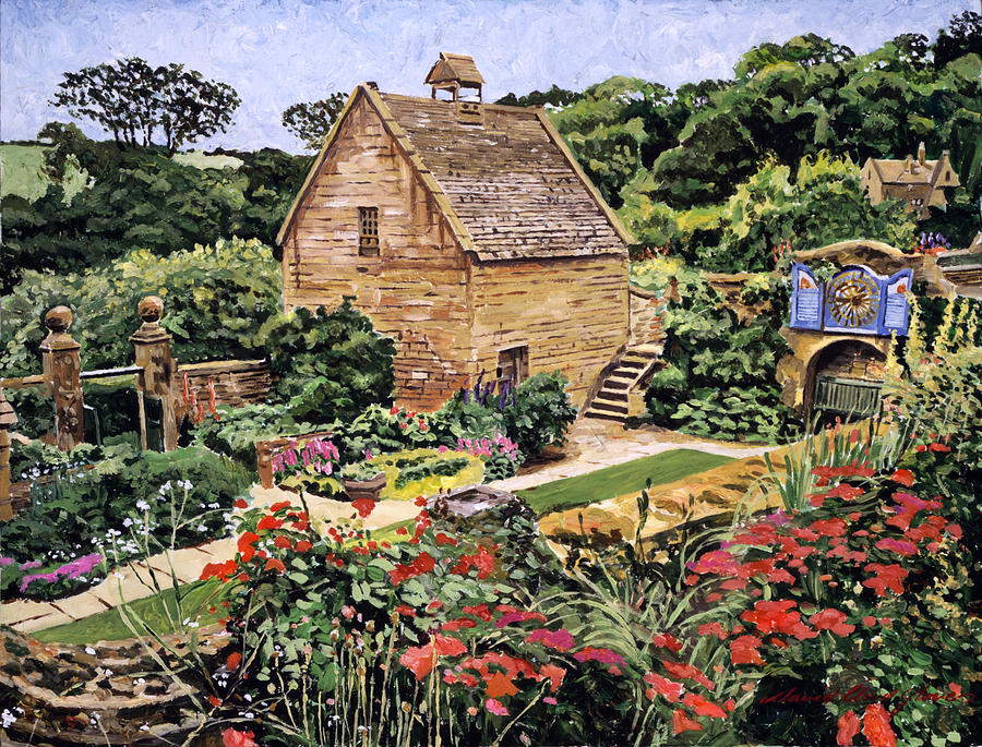 Country Stone Manor House Painting