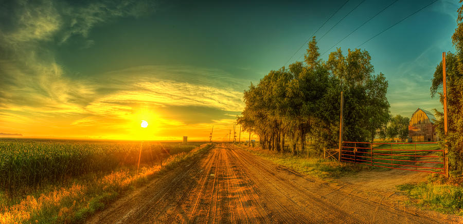Sunrise Photograph - Country Sunrise by  Caleb McGinn