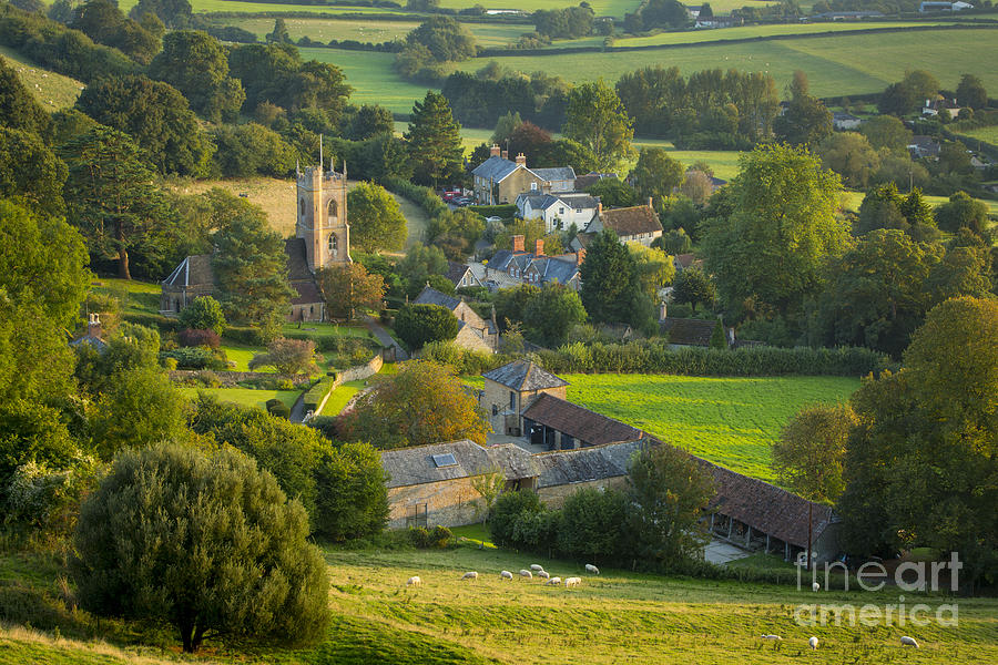 Country Village England Photograph By Brian Jannsen