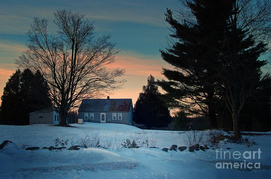 Countryside Winter Evening Photograph
