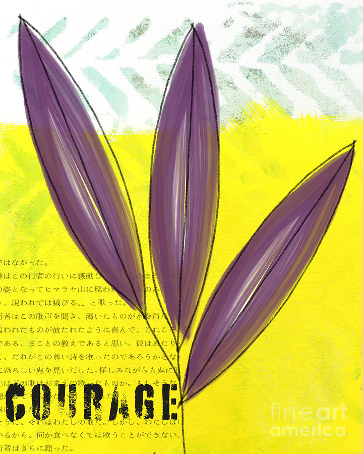 Courage Painting - Courage by Linda Woods