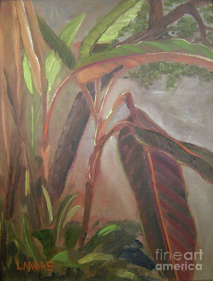 Bananas Painting - Courtyard Bananas by Lilibeth Andre