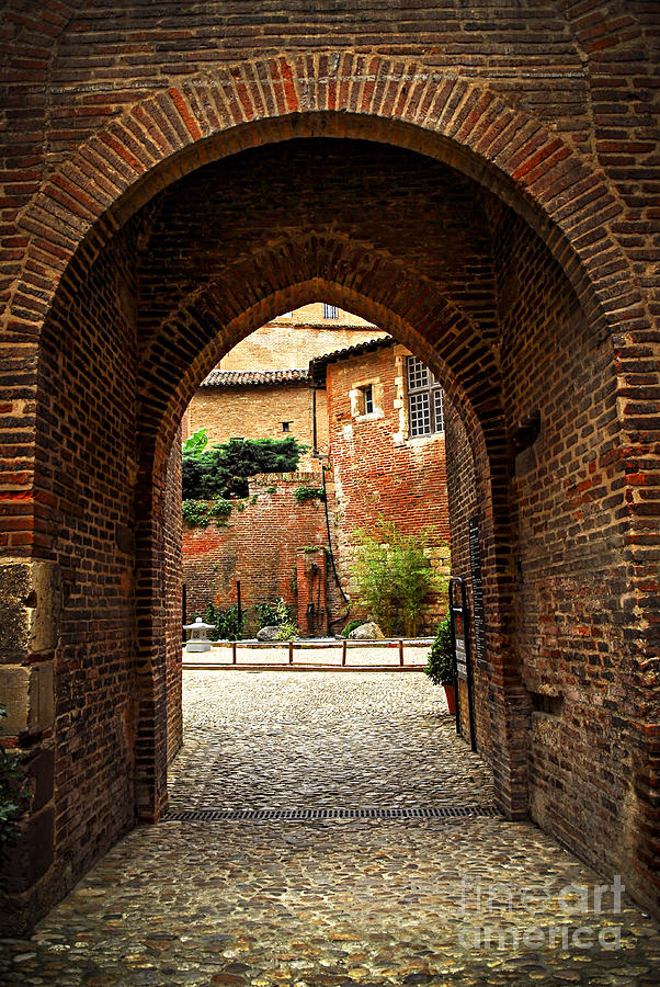 Courtyard Of Cathedral Of Ste-cecile In Albi France Photograph