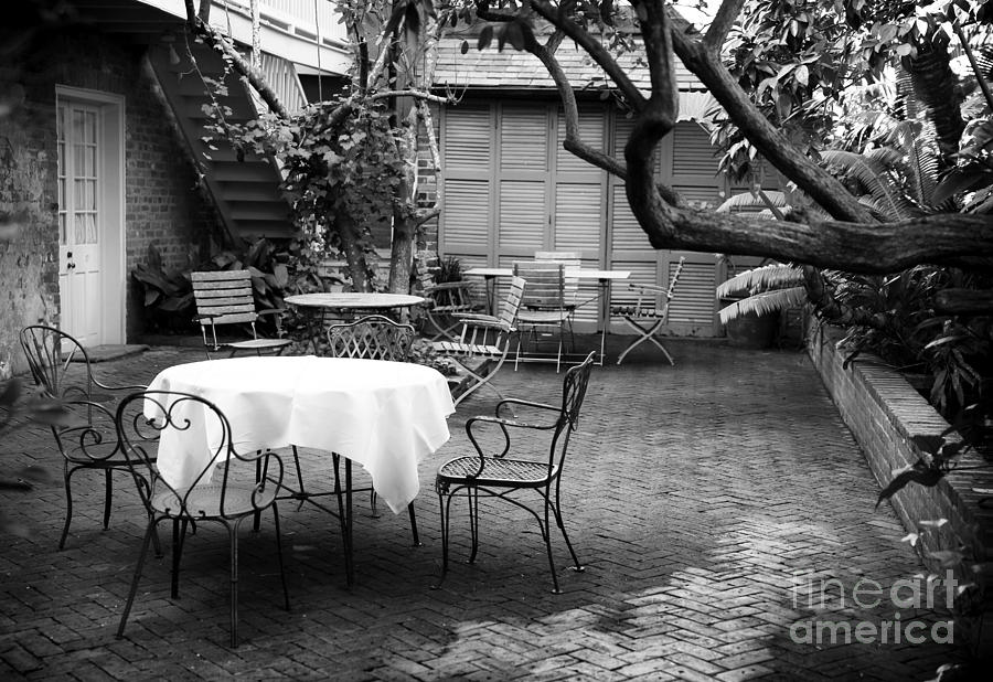 Courtyard Seating Photograph  - Courtyard Seating Fine Art Print