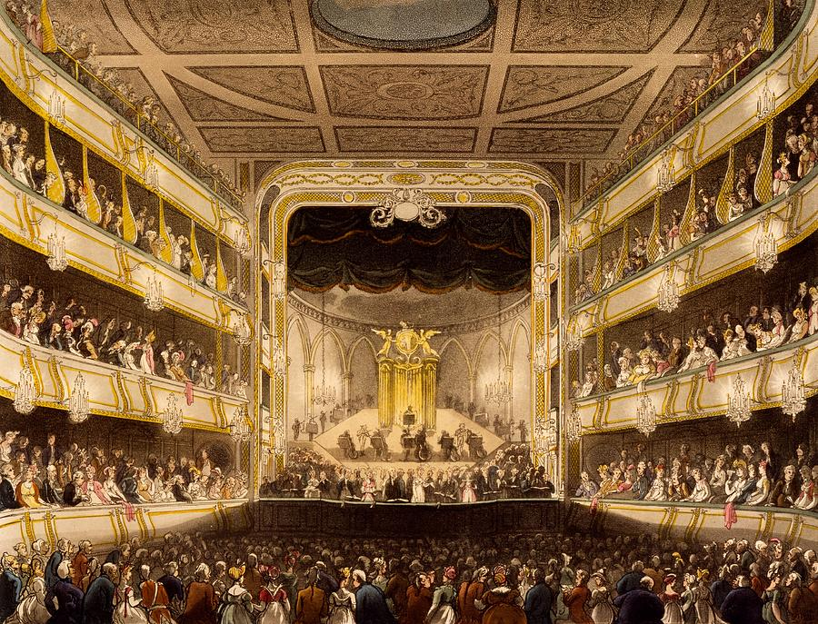 Covent Garden Theatre From Microcosm Drawing By T Pugin A C Rowlandson