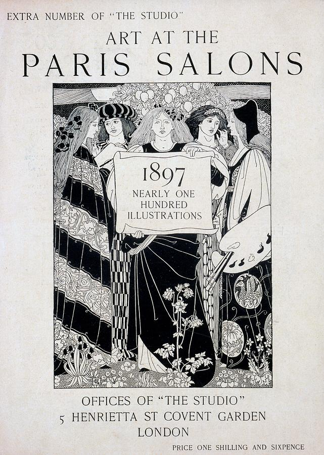 Art At The Paris Salons Drawing - Cover For Art At The Paris Salons by English School