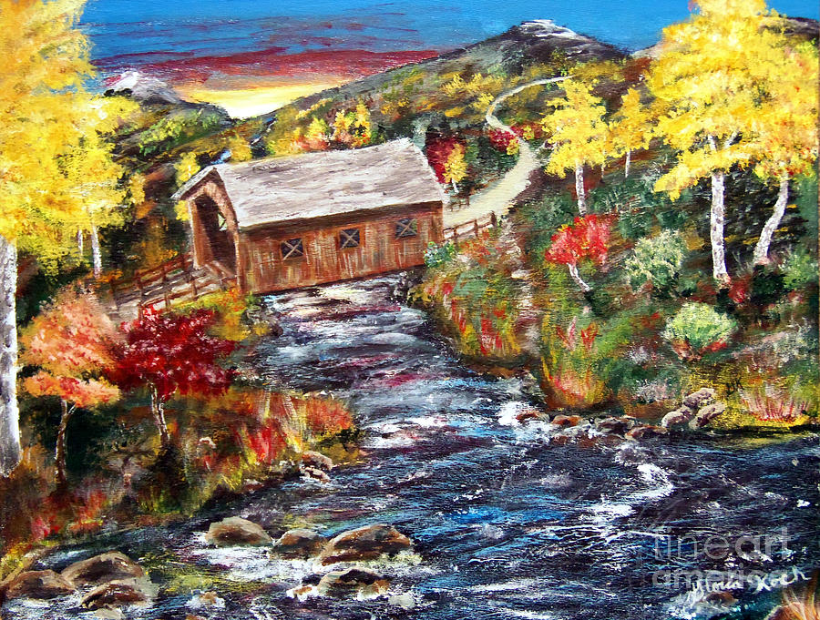 Covered Bridge Work In Progress V2 Painting