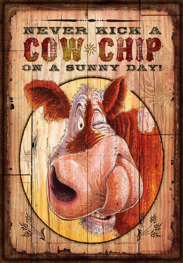 Cow Chip Painting  - Cow Chip Fine Art Print