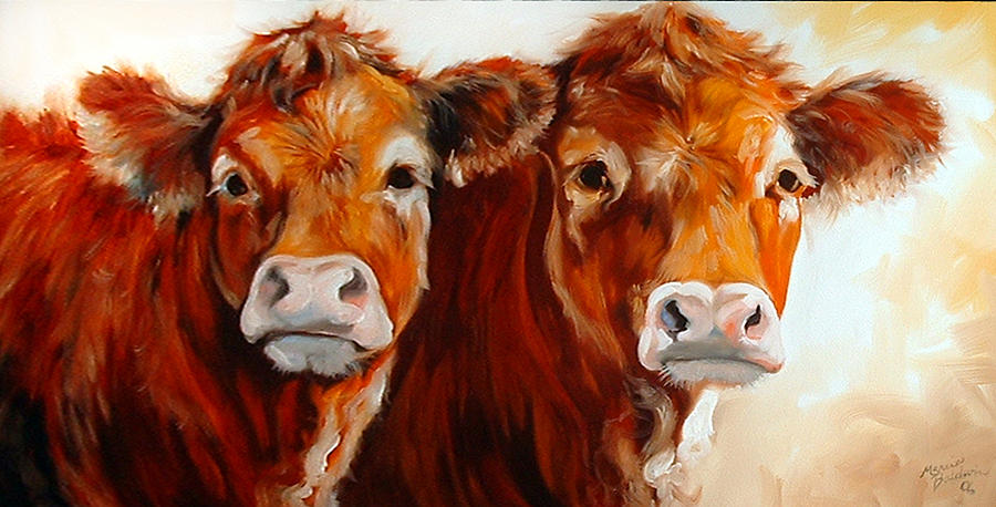 Cow cow painting by marcia baldwin for Cow painting print