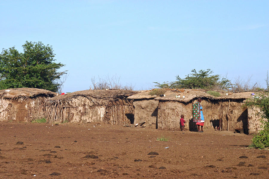 Cow Dung Homes Of The Maasai by Pamela Buol